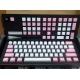 DUCKY 粉紅白色 PBT鍵帽  同刻 108鍵 中文