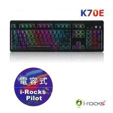 i-Rocks IRK70E 電容式鍵盤 黑色