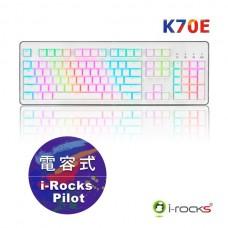 i-Rocks IRK70E 電容式鍵盤 白色