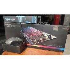 ROCCAT Vulcan 100 AIMO 茶軸中文 RGB光 機械式鍵盤 + TYON (黑 或 白) 工業包