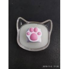 阿米洛 貓爪鍵帽 (白粉)